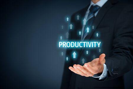 Photo pour Coach motivate to productivity improvement. Manager (businessman, coach, leadership) plan to increase company productivity. - image libre de droit