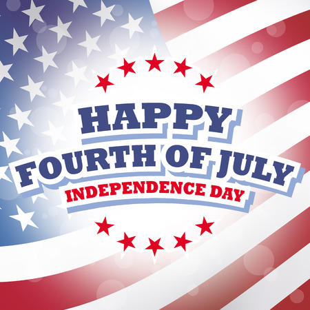 happy fourth of july  independence day america card american flag background