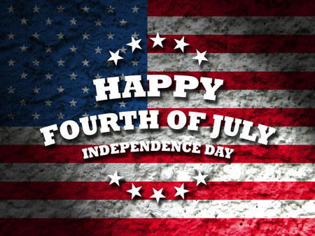 happy fourth of july  independence day america card grunge flag background