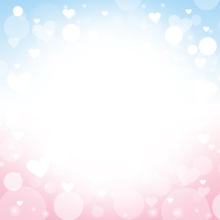 Foto de heart shape vector abstract pink and blue background - design Ideas for valentines day, love cards, love letter, love note and wedding - Imagen libre de derechos