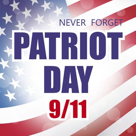 usa patriot day september 11 banner flag background
