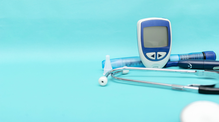 Diabetes is a disease that requires close supervision. From the doctor and the patient. Inspection and Treatment Equipment,Stethoscope.