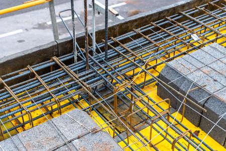 Foto de Detail of reinforced concrete slab under construction - Imagen libre de derechos