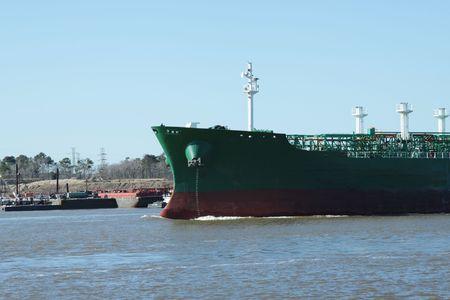 Oil Tanker entering the Houston Ship channel