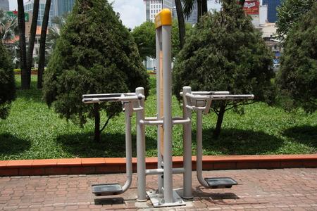 Sport equipment in a park of Ho Chi Minh City, Vietnam