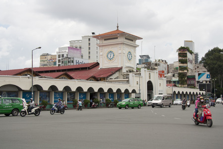 Ben Thanh market in a center of Ho Chi Minh City, Vietnam - 29.07.2014
