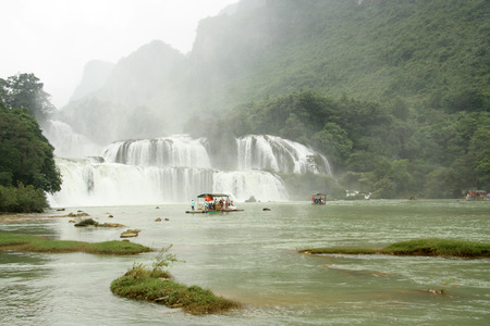 Amazing Ban Gioc or Detian waterfall at the border between Vietnam and China