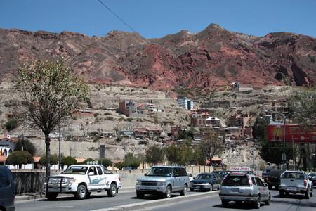 BOLIVIA, LA PAZ, 5 SEPTEMBER 2013 - Traffic jam in La Paz city, Bolivia, South America
