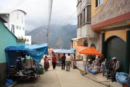 BOLIVIA, COROICO, 15 SEPTEMBER 2013 - Street Market in Coroico town, Yungas region, Bolivia, South America