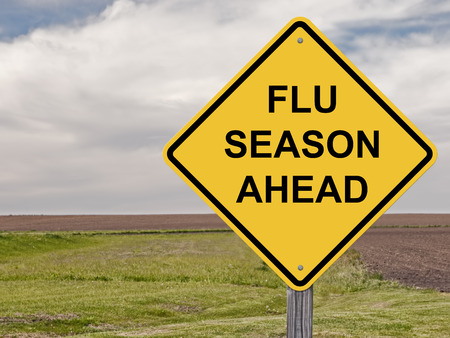 Caution Sign - Flu Season Ahead