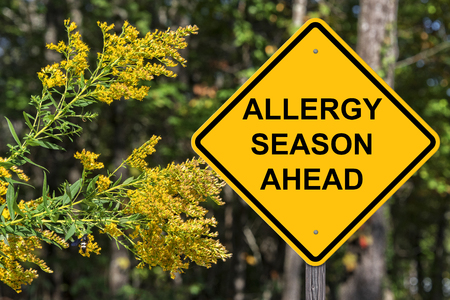 Photo for Caution Sign - Allergy Season Ahead - Royalty Free Image