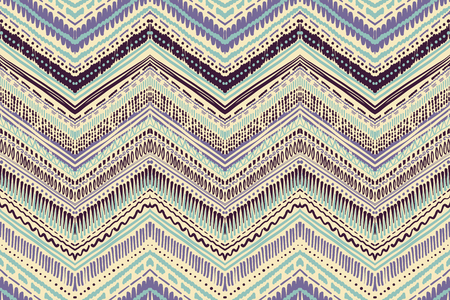 Illustration pour Abstract Ikat and boho style handcraft fabric pattern. Traditional Ethnic design for clothing and textile background, carpet or wallpaper - image libre de droit