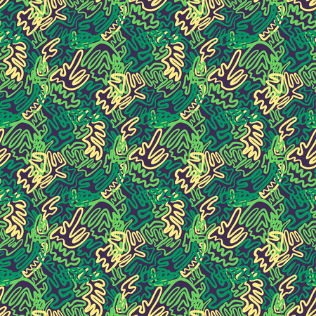 Illustration pour Abstract doodle and boho style handcraft fabric pattern for girls, boys, clothes. Traditional Ethnic design for clothing and textile background, carpet or wallpaper. Fashion style. Colorful bright - image libre de droit