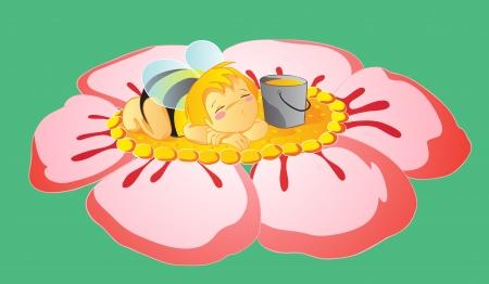 Asleep little bee