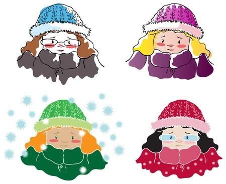 Four frozen girls
