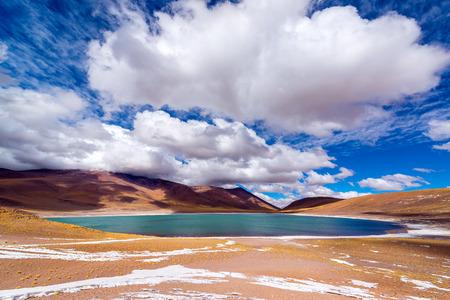 Blue Lake Meniques in the high plans of northern Chile near San Pedro de Atacama