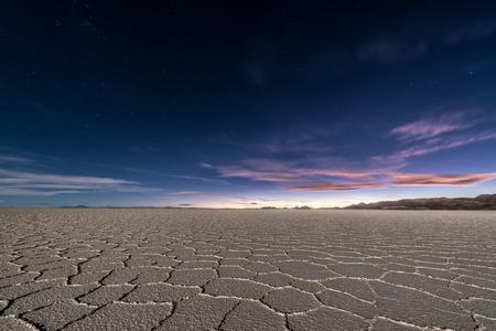 Photo for Salt flats of Uyuni, Bolivia as seen at night - Royalty Free Image