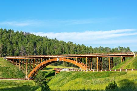 Photo pour Highway overpass in the Black Hills in South Dakota - image libre de droit