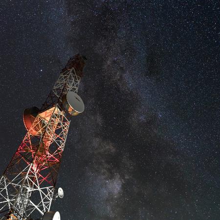 Milky way on a radio antenna
