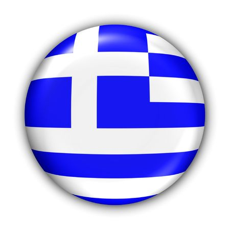World Flag Button Series - Europe - Greece(With Clipping Path)