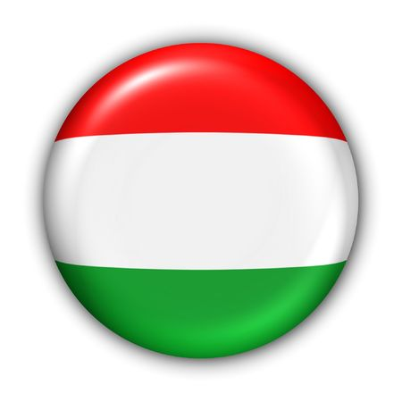 World Flag Button Series - Europe - Hungary(With Clipping Path)
