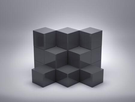 Photo pour Pedestal for display,Platform for design,Blank product,White room on clean background.3D rendering. - image libre de droit