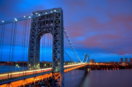 George Washington Bridge at Sunset last light