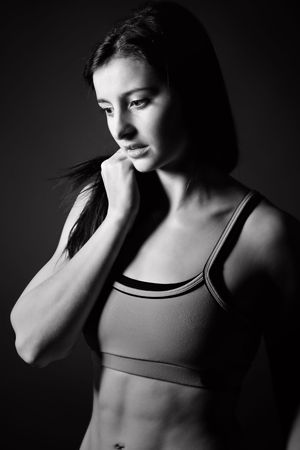 Shot of an Attractive Athletic Girl in Sportswear