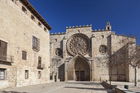 SANT CUGAT DEL VALLES,SPAIN-JANUARY 30,2014: Monastery, Monestir of Sant Cugat del Valles, province Barcelona,Catalonia.