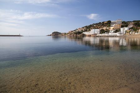 SANT FELIU DE GUIXOLS,SPAIN-MAY 29,2012: Mediterranean beach in Sant Feliu de Guixols, Costa Brava, province Girona, Catalonia