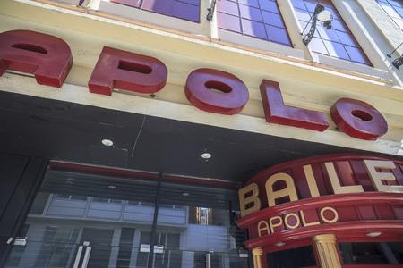 BARCELONA,SPAIN-APRIL 3,2017:Facade concert hall,Sala Apolo in Paralelo avenue,Barcelona.