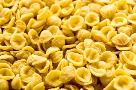Foto de Orecchiette, Italian wheat semolina pasta. - Imagen libre de derechos