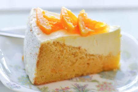 Foto de cake or cheese cake, orange cake - Imagen libre de derechos
