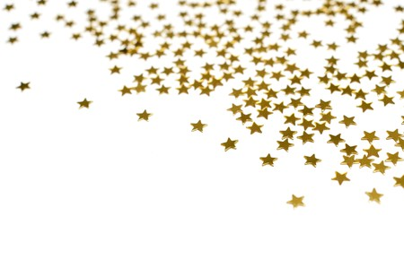 Photo for Many golden stars, isolated on white background - Royalty Free Image