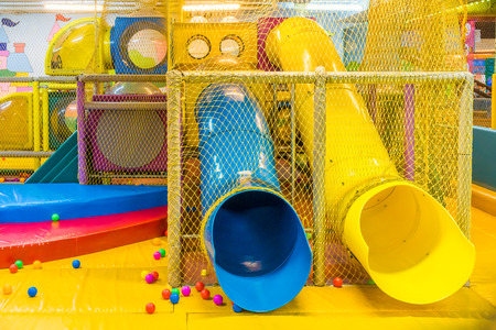 Playground in indoor amusement park for children