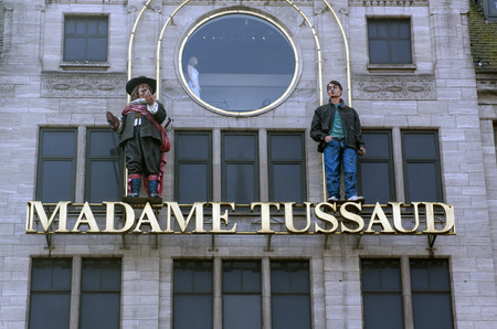 Amsterdam,The Netherlands-march 16,2015: Madame Tussauds is the name of several wax museums. This museum is located in amsterdam