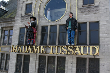 Amsterdam,netherlands-april 24, 2015: Madame Tussaud Amsterdam famous waxwork museum with statues