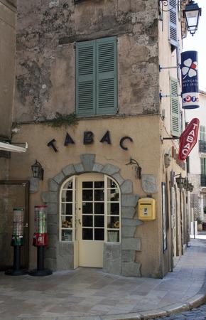 avignon,france-june 24, 2015: facade of an tipical french bar tabac shop in Avignon