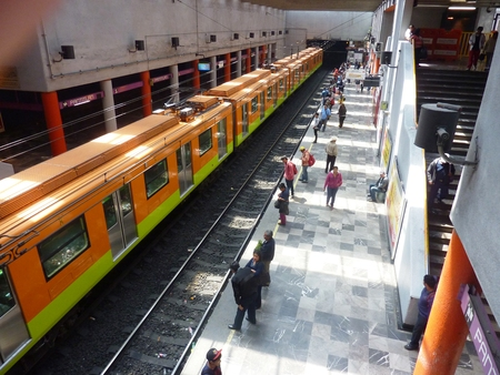 March 10, 2015: The Pantitlan subway station in Mexico City