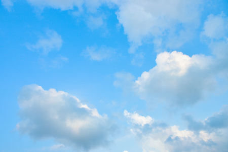 Photo pour Beautiful blue sky with white clouds in the afternoon. - image libre de droit