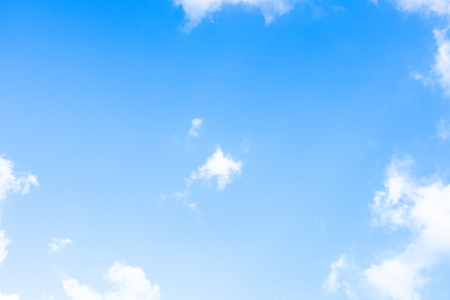 Photo pour Blue sky white cloud white background. Beautiful sky and clouds in the afternoon. - image libre de droit