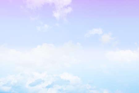 Foto de Blue sky white cloud white background. Beautiful sky and clouds in the afternoon. - Imagen libre de derechos
