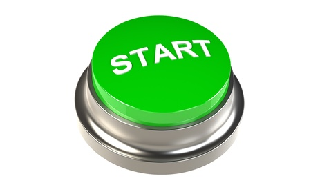 Button for Start. Green Start Button