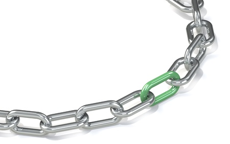Chain with red link  Hard Floor Shadow