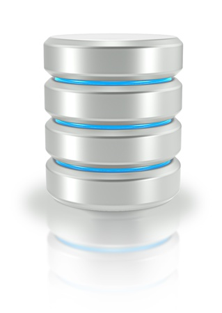 Abstract Database Icon  White background