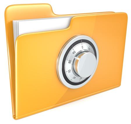 Photo pour File protection  Folder with combination lock   - image libre de droit