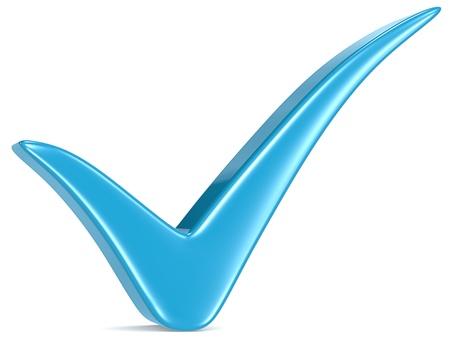Blue Check Mark, white background