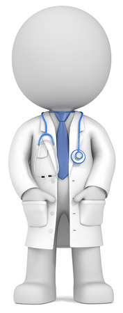 Photo pour Dude the Doctor standing upright with hands in pocket  - image libre de droit