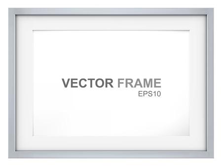Illustration pour Frame. Vector Picture Frame made of steel. Copy Space. - image libre de droit