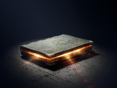 Photo pour Magic Book with super powers - 3D Artwork - image libre de droit